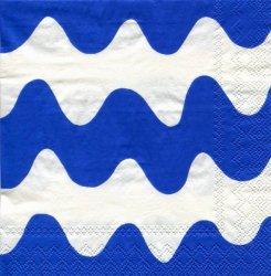 25cm 北欧 廃盤 マリメッコ LOKKI ブルー ロッキ かもめ ペーパーナプキン デコパージュ marimekko