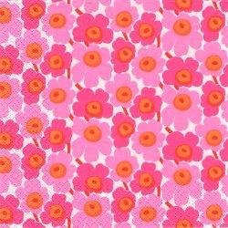 北欧 廃盤 マリメッコ MICRO-UNIKKO ピンク マイクロウニッコ 極小のケシの花 フィンランド製 1枚 バラ売り ペーパーナプキン marimekko