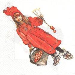 北欧 カール・ラーション Apple Girl アップル・ガール 1枚 バラ売り 33cm ペーパーナプキン デコパージュ Carl Larsson