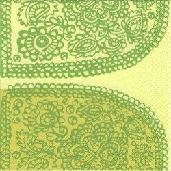 北欧 廃盤 マリメッコ TANTSU ライトグリーン タンツ ダンス フィンランド製 1枚 バラ売り 33cm ペーパーナプキン デコパージュ marimekko