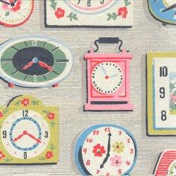 廃番 キャス・キッドソン CLOCKS 時計 1枚 バラ売り 33cm ペーパーナプキン デコパージュ Cath Kidston