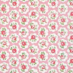 廃番 キャス・キッドソン PROVENCE ROSE ピンク プロヴァンスローズ 1枚 バラ売り 33cm ペーパーナプキン Cath Kidston Ihr