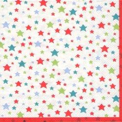廃盤 キャス・キッドソン MULTI STAR マルチスター  星 1枚 バラ売り33cm ペーパーナプキン Cath Kidston