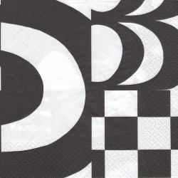 北欧 廃盤 マリメッコ YHDESSA ブラック イフデッサ フィンランド製 1枚 ばら売り 33cm ペーパーナプキン デコパージュ marimekko