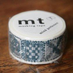 ミナ・ペルホネン/フォレストタイル・ブルー*forest tile-blue/マスキングテープ/カモ井