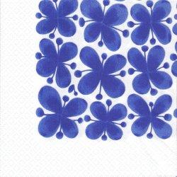 北欧 ロールストランド Mon Amie ブルー モナミ 花柄 1枚 バラ売り 33cm ペーパーナプキン Rorstrand Fiskers Home
