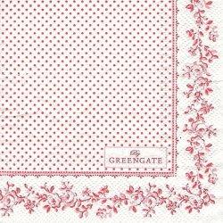 北欧 25cm グリーン・ゲート Audrey レッド オードリー 1枚 バラ売り ペーパーナプキン デコパージュ GREEN GATE