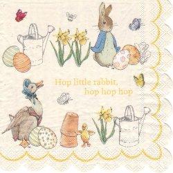 廃盤 2面柄 ピーターラビット 黄色 1枚 33cm ペーパーナプキン バラ売り Peter Rabbit Meri Meri