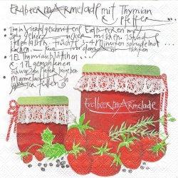 廃盤 Fraise イチゴジャム瓶 ストロベリー 苺 1枚 バラ売り 33cm ペーパーナプキン デコパージュ stewo