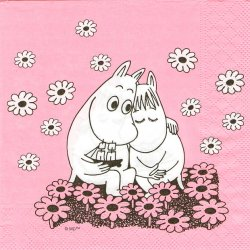 <img class='new_mark_img1' src='https://img.shop-pro.jp/img/new/icons59.gif' style='border:none;display:inline;margin:0px;padding:0px;width:auto;' />ムーミン MOOMIN LOVE ラブ ピンク 1枚 33cm ペーパーナプキン バラ売り 北欧