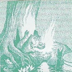 ムーミン/MOOMIN クッキング*緑/1枚/33cm/ペーパーナプキン/バラ売り/デコパージュ