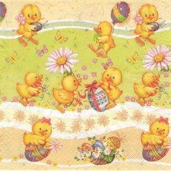 <img class='new_mark_img1' src='https://img.shop-pro.jp/img/new/icons55.gif' style='border:none;display:inline;margin:0px;padding:0px;width:auto;' />廃盤 Happy Little Chickens 小さなひよこパレード イースター 1枚 バラ売り 33cm ペーパーナプキン Daisy
