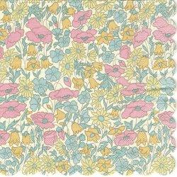 廃盤 リバティ POPPY & DAISY イエロー ポピー&デイジー お花 1枚 バラ売り 33cm ペーパーナプキン LIBERTY OF LONDON Meri Meri