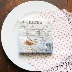 1パック20枚 25cm CAFE COLLAGE チョコレート・ヴィンテージ・カフェ ペーパーナプキン 未開封 Ambiente
