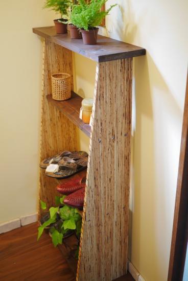大きな木製の棚 4段 small furniture 豆の木