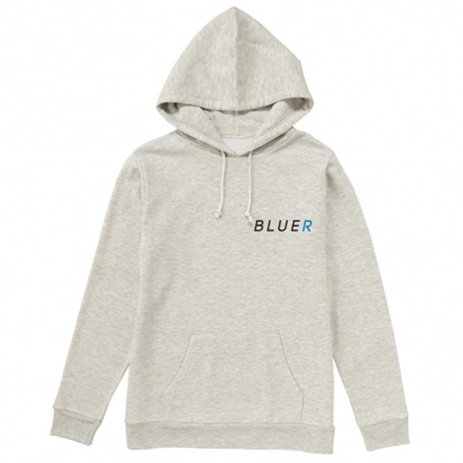 【★96TEE Present】BLUER CLOTHING Pull Hoodie|Snow