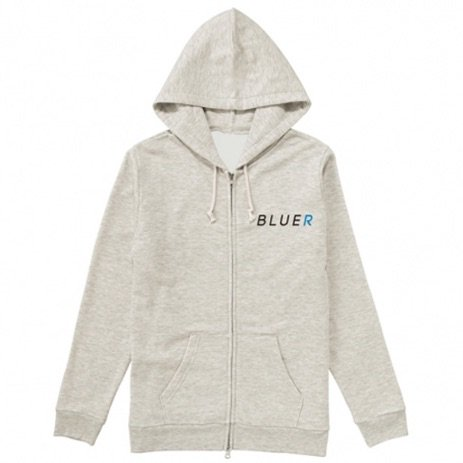 【★96TEE Present】BLUER CLOTHING Zip Hoodie|Snow