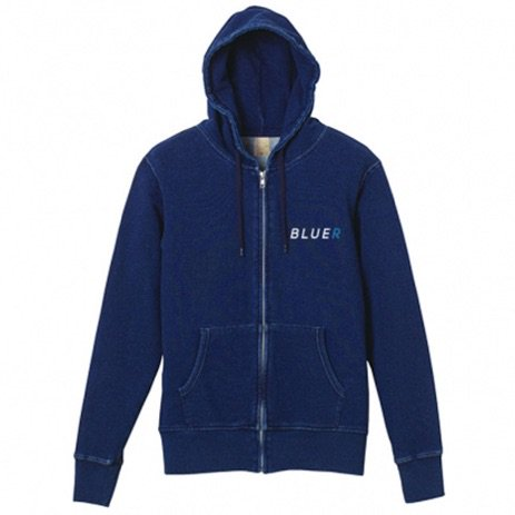 BLUER CLOTHING Zip Hoodie|Atlantice Indigo