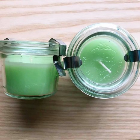 ウェック ・ガラスキャニスター キャンドル2個set(グリーン)