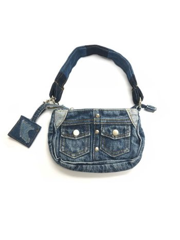 BLUER DENIM BAG MINI(SQUARE)