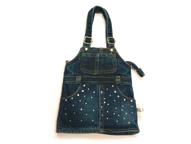<img class='new_mark_img1' src='//img.shop-pro.jp/img/new/icons8.gif' style='border:none;display:inline;margin:0px;padding:0px;width:auto;' />BLUER DENIM BAG MINI(OVERALLS)