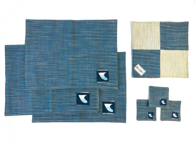 <img class='new_mark_img1' src='//img.shop-pro.jp/img/new/icons8.gif' style='border:none;display:inline;margin:0px;padding:0px;width:auto;' />BLUER DENIM LUNCHEON MAT and COASTER SET(3pieces)