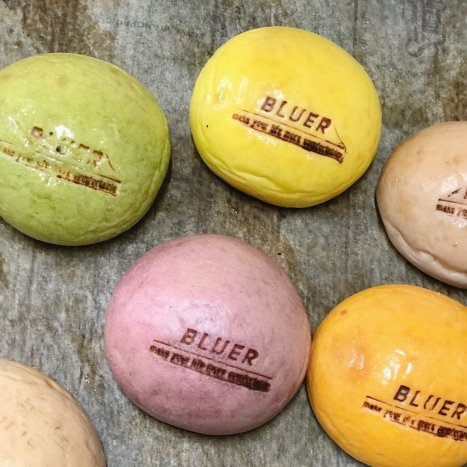 【 6色MIX 】BLUER 天然酵母お野菜バンズ 6色×2=12個