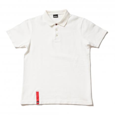 KANOKO LUXURY POLO|鹿の子30/2太糸ポロシャツ(WHT)