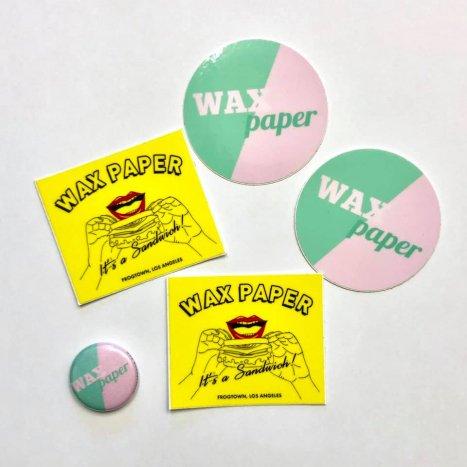WAX PAPER ステッカーセット(ミニ缶バッヂ付き)