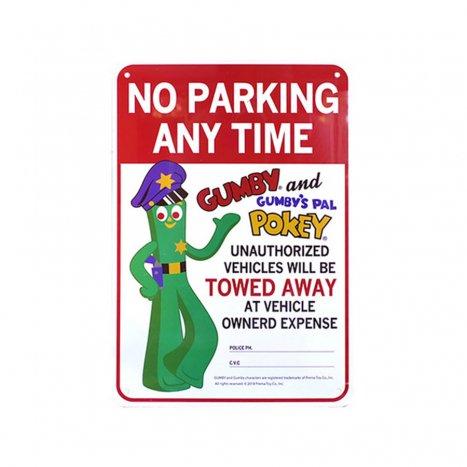 プラスティックサインボード(GUMBYー駐車禁止サインボード)