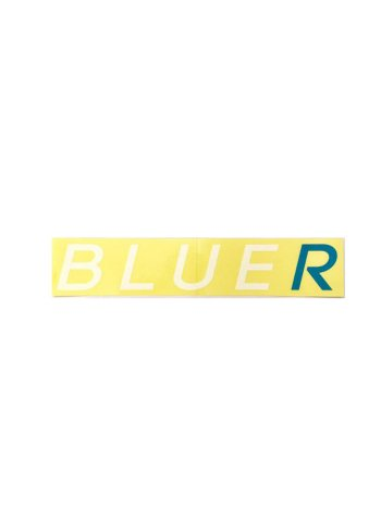 BLUER防水仕様ステッカーWHITE×BLUE(25cm type)