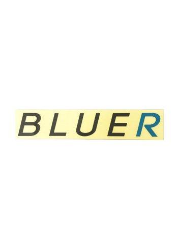 BLUER防水仕様ステッカーBLACK×BLUE(25cm type)