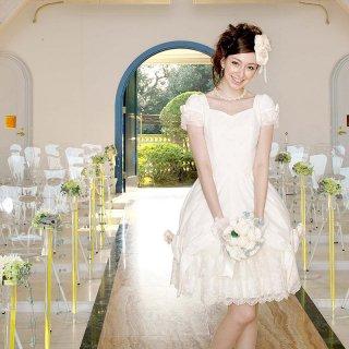 スイートハートリボンチューリップドレス オフホワイト
