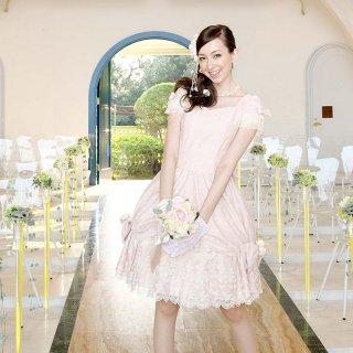 【レンタルドレス】スイートハートリボンチューリップドレス ピンク