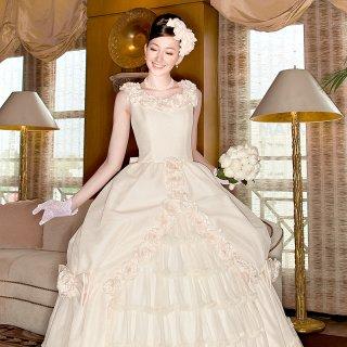 プリンセスライン フラワードットドレス