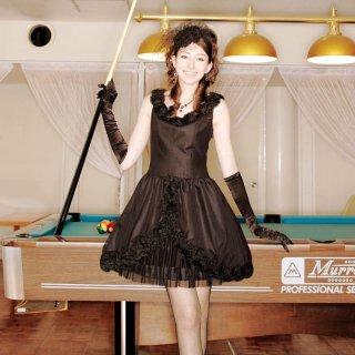 【レンタルドレス】チュール フラワードレス ブラック