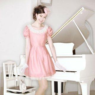 【レンタルドレス】ソフトシャンタン バルーンドレス ピンク