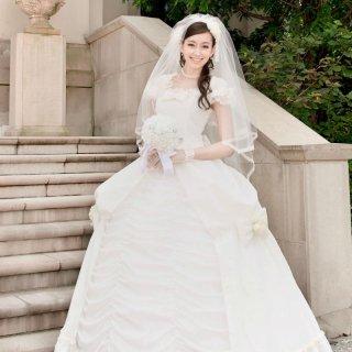 プリンセスライン フリルドットドレス