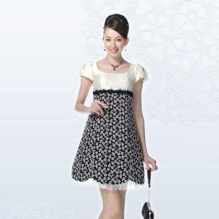 【レンタルドレス】刺繍レース&シャンタン リボンドレス