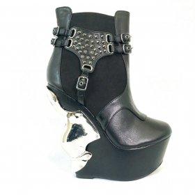 スタッズベルトとスエード&合皮ボディのショートブーツSTALLION|ヘイディーズ-hades-靴ブランド通販
