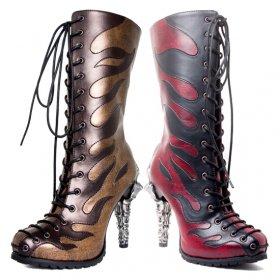 ロックな炎柄に鉤爪ヒールのブーツPYRA|ヘイディーズ-hades-靴ブランド通販