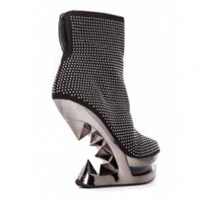 海外取寄 メタルなヒールレスヒールとスタッズMONROE|hadesブランド靴通販