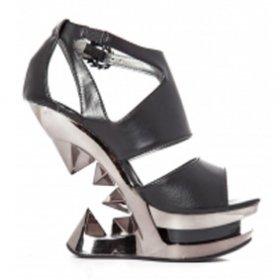 海外取寄 メタルなヒールレスヒールサンダルHANYA|hadesブランド靴通販