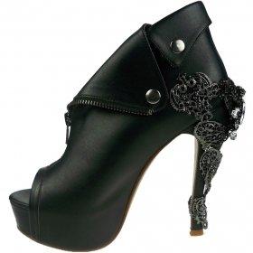(海外取寄) ビジューが付いたセレブなオープントゥブーティーDORGU|ヘイディーズ-hades-靴ブランド通販