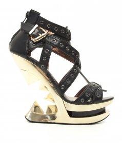 <企画品>  ハトメベルトとピラミッドヒールのサンダルTAUNT|ヘイディーズ-ブランド靴通販