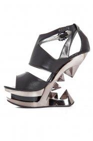 メタルなヒールレスヒールサンダルHANYA|hadesブランド靴通販