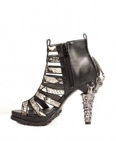 (在庫あり)パイソン柄ボーンサンダルLEORA|hadesブランド靴通販