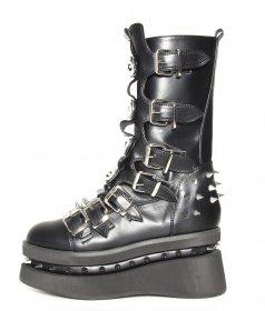 国内発送 ロックな厚底ブーツSTECHENはベルトとスタッズの装飾|ヘイディーズ-hades-靴ブランド通販
