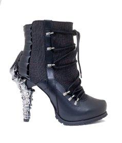 (注文後生産)レースアップに鉤爪ヒールのショートブーツSHADE|ヘイディーズ-hades-靴ブランド通販