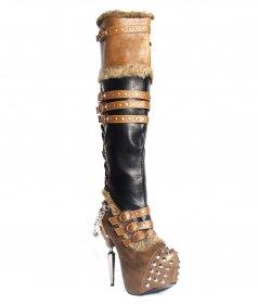 スチームパンクなサイハイブーツVENTAILはスタッズとチェーンとベルト付|ヘイディーズ-hades-靴ブランド通販